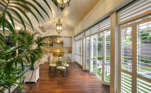 hinged Plantation shutters