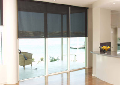 Holland Blinds -made from see-thru fabric (view from inside)