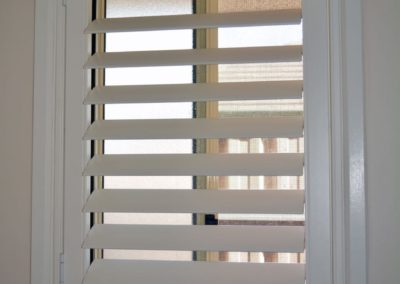 plantation shutter for the smallest room in the house
