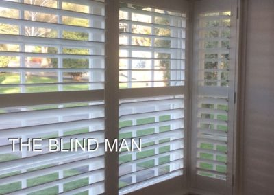 Plantation shutters are great for odd shaped windows- these were installed in Largs Bay