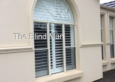 plantion shutters - this is the view from outside installed in saint Marys