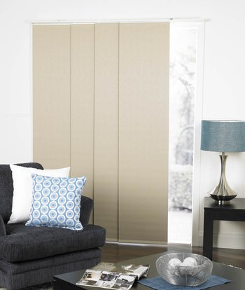 panel guide blinds come in a variety of colours and panel widths