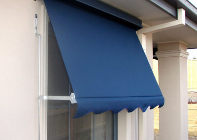automatic awnings go over windows and can sit 150mm out from the window and up to 450mm
