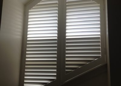 plantation shutters are great for difficult windows - installed in Henley Beach