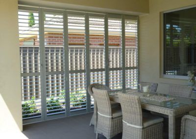 Aluminium plantation shutters in burnside
