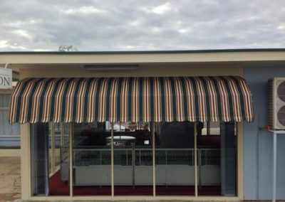 Dutch awning finished and installed at Port Pirie