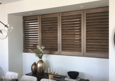 Plantation shutters can also be used as a room divider