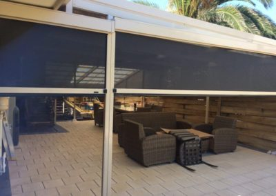 Zip screens made in our factory at Edwardstown installed in Hallet Cove