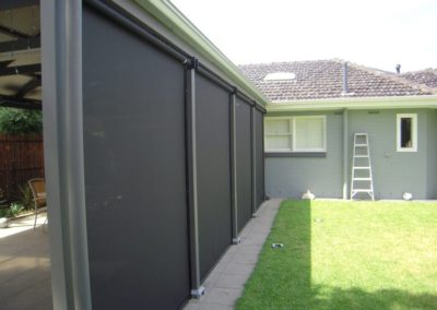 Zip screens - outside view