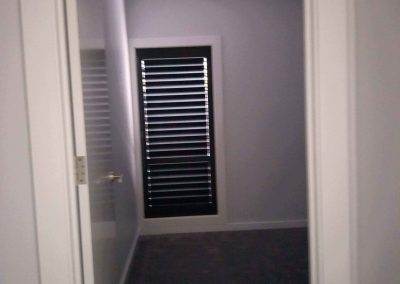 Black plantation shutters add a look of luxury to your home