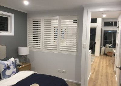 Room divider plantation shutter installed for a client's living room in Victor Harbour