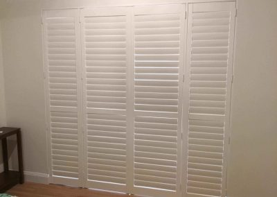 Plantation shutters installed by The Blind Man for a suburban Adelaide client's master bedroom