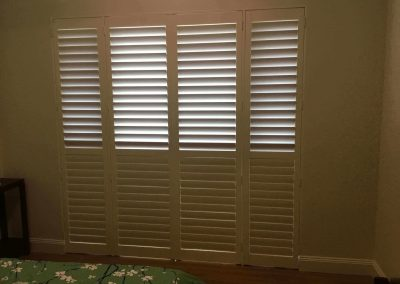 Plantation shutters not only look stylish but also let you control the amount of sunlight you want to let in a room