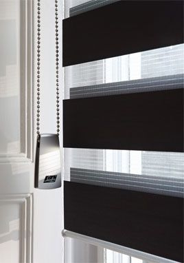 Sheer elegance blinds operate on roller like a holland with a cassette - you can adjust the panels to control the amount of light you let in