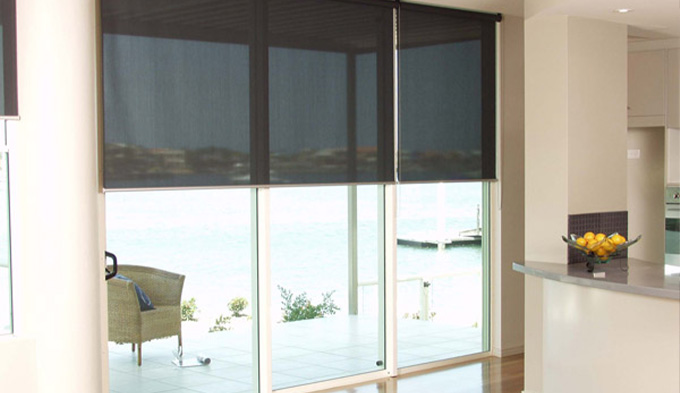 Holland Blinds online installed in a Burnside client's living room